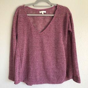 Aeropostale Shimmering Purple Lite sweater SZ L